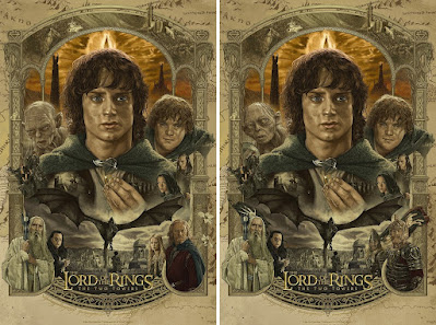 New York Comic Con 2021 Exclusive The Lord of the Rings: The Two Towers Giclee Print by Juan Ruiz Burgos x Bottleneck Gallery