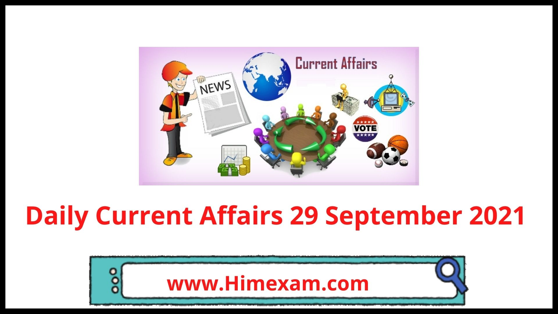 Daily Current Affairs 29 September 2021