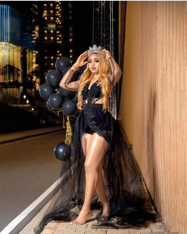 Actress Regina Daniels stuns in adorable trending black outfit as she celebrates her birthday today