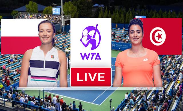 Match Tennis En Direct Ons Jabeur vs Iga Swiatek WTA Cincinnati