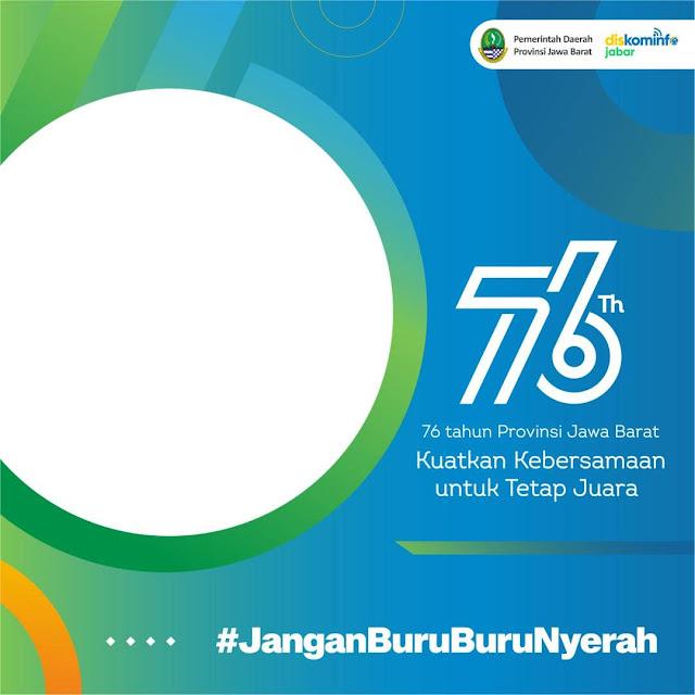 Link Download Frame Bingkai Foto Twibbon Selamat Hari Jadi Provinsi Jawa Barat 2021 - Twibbonize