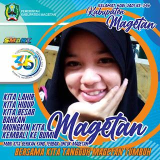 10+ Twibbon atau Bingkai Foto Hari Jadi Kabupaten Magetan Jawa Timur, 12 Oktober 2021