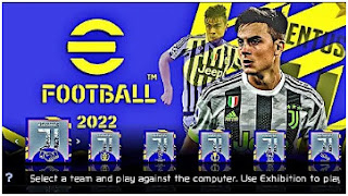 Download eFootball PES 2022 PPSSPP Paulo Dybala Juventus Edition Graphics HD & New Commentary Peter Drury