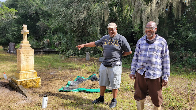 Vice President Thomas Jackson and President Willie Cooper, Sr. from the West Augustine Improvement Association
