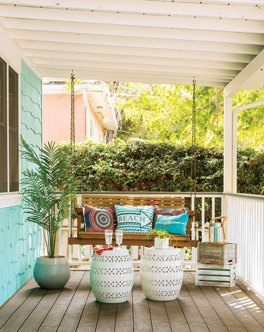 Beach Cottage Porch with Swing