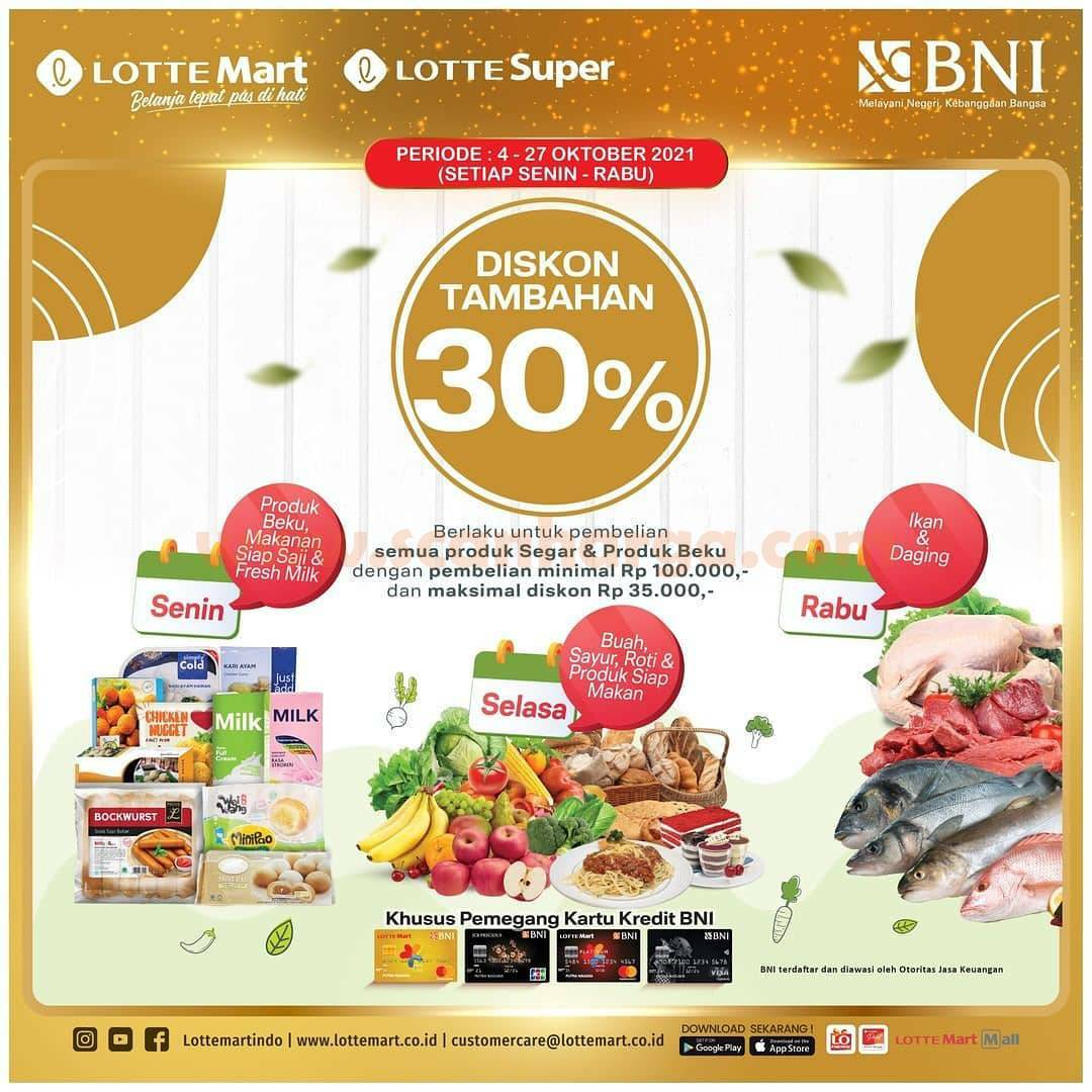 Promo Lottemart Diskon Tambahan 30% dengan Kartu Kredit BNI