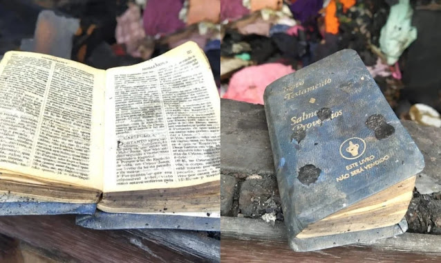 Bíblia é encontrada intacta em casa incendiada no Paraná