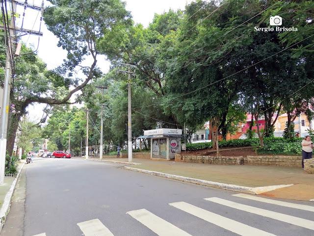 Vista ampla de parte da Praça Benedito Calixto - Pinheiros