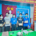 Đoàn cơ sở thị trấn Cái Đôi Vàm tổ chức lễ kết nạp đoàn viên mới cho các bạn thanh niên tình nguyện tham gia phòng, chống dịch bệnh Covid-19