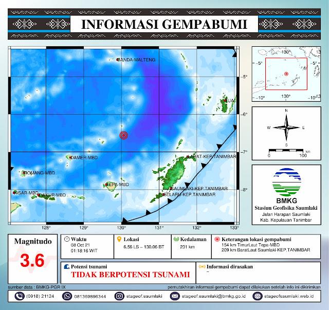 2 Gempa Bumi 4.1 dan 3.6 SR Guncang Selatan Banda, Tak Berpotensi Tsunami.lelemuku.com.jpg