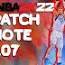 NBA 2K22 PATCH 1.07 NOTES DETAILS