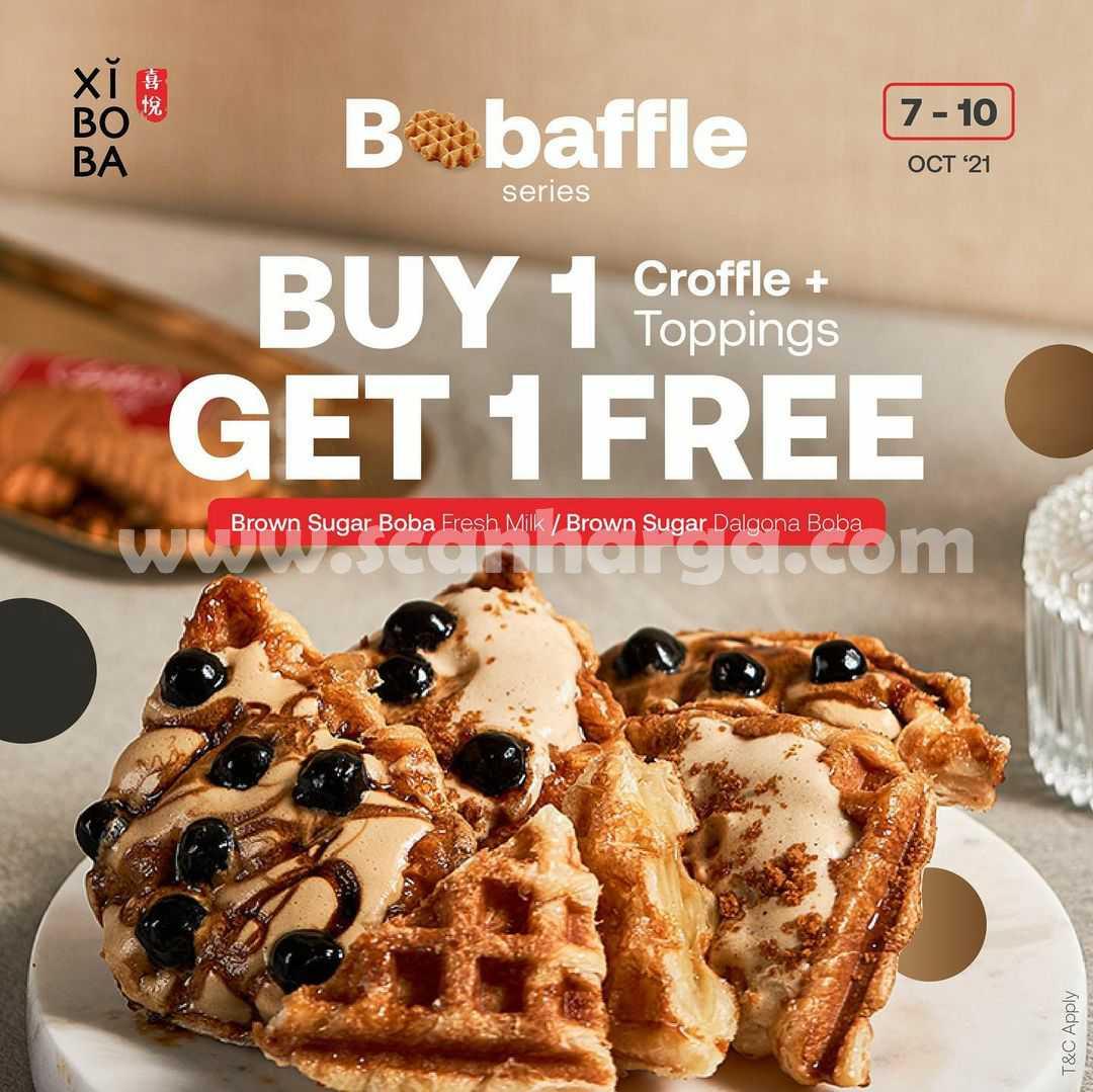 Promo XIBOBA BOBAFFLE SERIES! Buy 1 Get 1 Free +  Croffle Topping