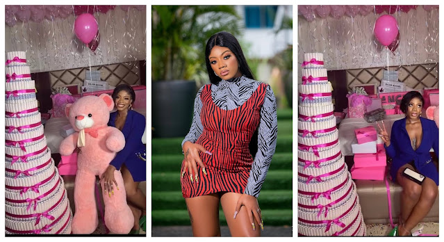 #BBNaija Moment Angel fans gifts her Money and cake(Video)