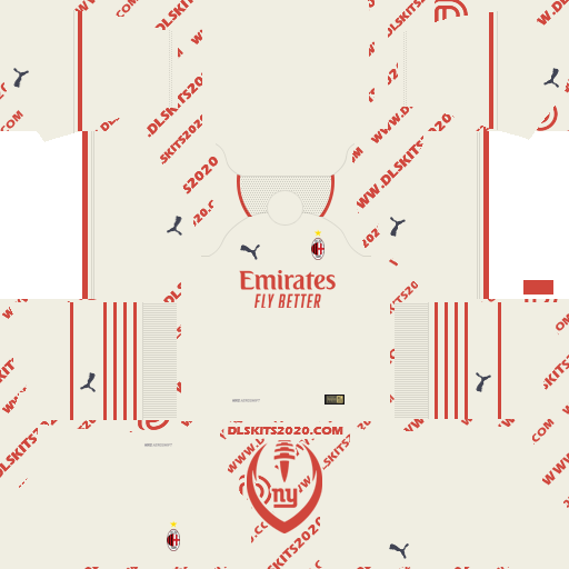 Ac Milan Kits 2021-2022 in Serie A For Puma - Kit Dream League Soccer 2019 (Away)