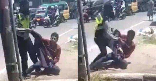 Kemarin Polisi Smackdown Mahasiswa, Sekarang Polisi Pukuli Warga sampai Terkapar