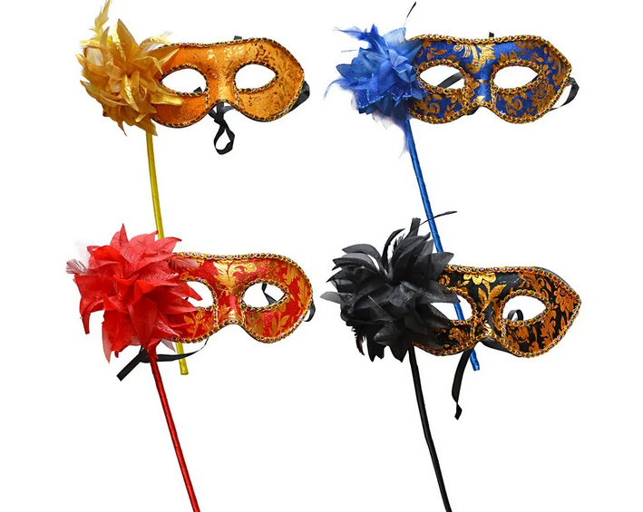 Masquerade mask on a stick at the carnival