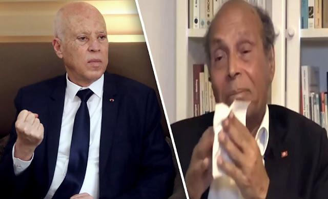 Kais Saied Moncef Morzouki قيس سعيد المنصف و المرزوقي