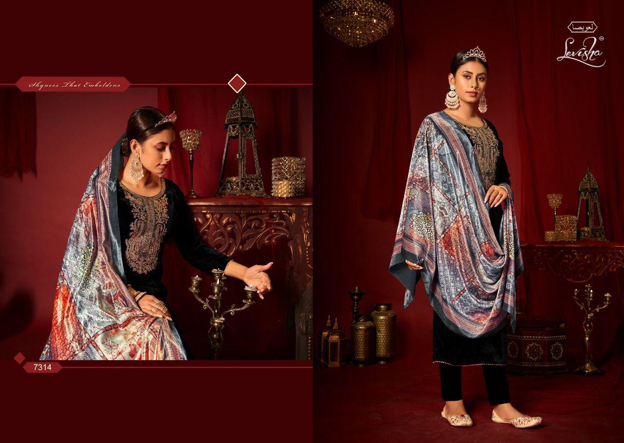 Levisha Mehreen Pant Style Suits Catalog Lowest Price