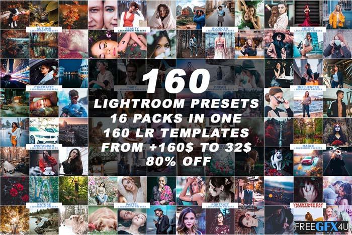 160 Best Lightroom Presets Bundle