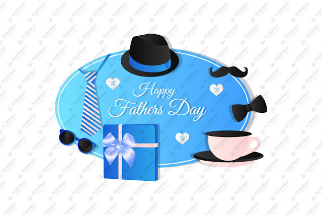 Happy father's day greeting card design free vector download