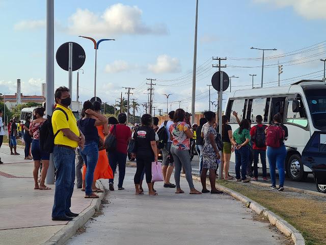 Ônibus paralisaram em São Luís