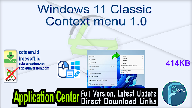Windows 11 Classic Context menu 1.0