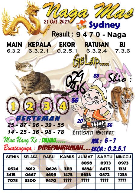 Syair Nagamas Sdy Kamis 21 Oktober 2021