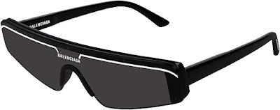 Shield Frame Authentic Balenciaga Sunglasses For Women