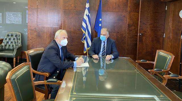 Συνάντηση Ανδριανού με Θεοδωρικάκο για τα θέματα ασφάλειας και αστυνόμευσης της Αργολίδας