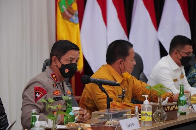 Kapolda Lampung Rapat Evaluasi Percepatan Vaksinasi Covid-19