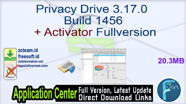 Privacy Drive 3.17.0 Build 1456 + Activator Fullversion