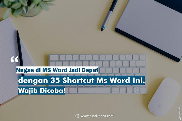 Shortcut MS Word di Keyboard