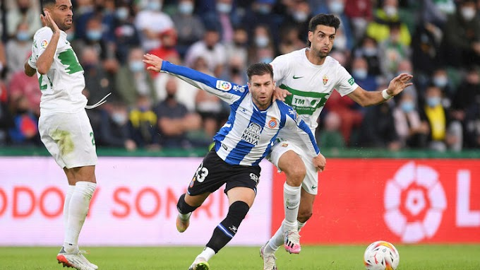 Elche 2 - 2 Espanyol: Espanyol denied late on in Alicante