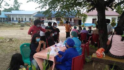 Sebanyak 750 Pelajar SMP Divaksin Dosis Pertama di Balige, Toba