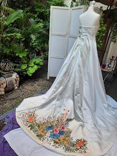 Robe de mariée tropicale D'Ors et de Soie