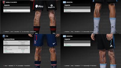 PES 2021 New Leg TattooPack 1