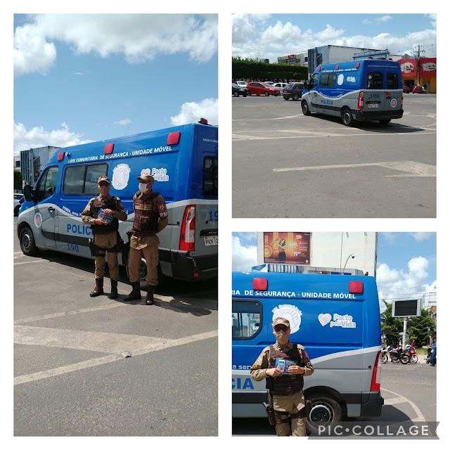 Quarto Batalhão realiza operações em Alagoinhas envolvendo trânsito, flagrante e furto