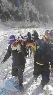 SDRF rescue former IAS Haryana from high alttitude area of Uttarakhs