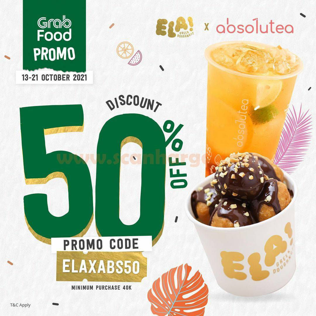 Promo ELA! Greek Doughnuts Diskon 50% via GRABFOOD