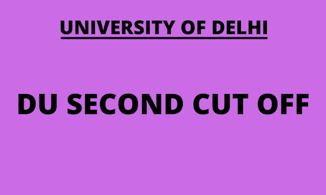 DU Cut Off 2021 Science, Arts, Commerce 2nd merit list