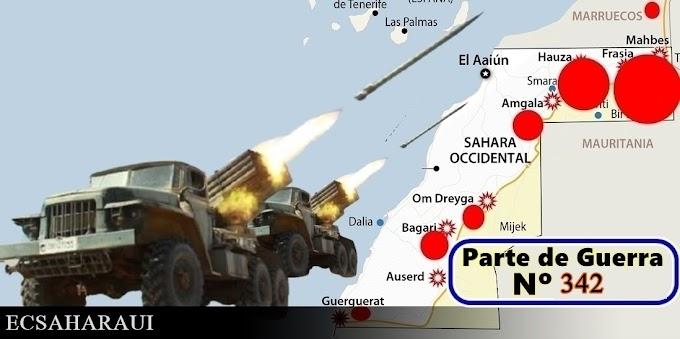 Parte de Guerra Nº 342. Guerra del Sáhara Occidental.