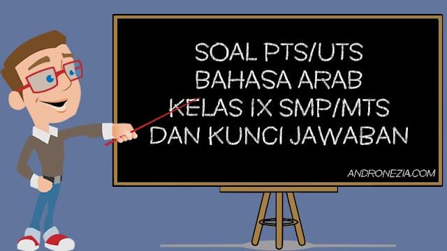 Soal PTS/UTS Bahasa Arab Kelas 9 Semester 1