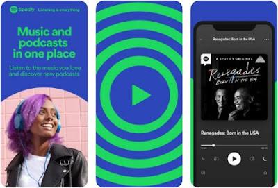 aplikasi pemutar musik iphone spotify