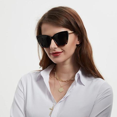 Elegant Oversized Cat Eye Sunglasses For Women