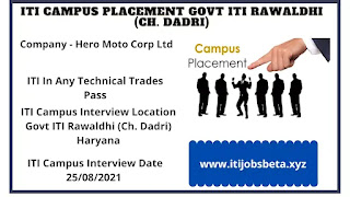 ITI Jobs Campus Placement In Haryana