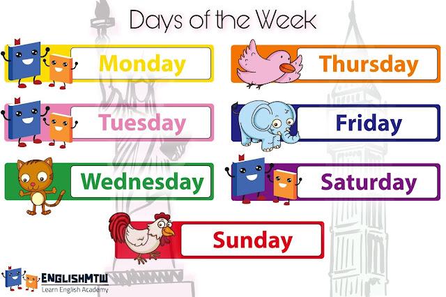 الدليل الشامل لحفظ ايام الاسبوع بالانجليزي