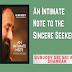 An Intimate Note to the Sincere Seeker PDF: Gurudev Sri Sri Ravi Shankar- Free Download