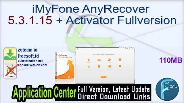 iMyFone AnyRecover 5.3.1.15 + Activator Fullversion