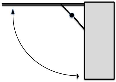 Um armário possui o sistema de abre e fecha, como o apresentado no desenho abaixo.