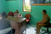 Tingkatkan Kamtibmas dan Dorong Pencegahan Covid-19 Jelang Pilkades, Kapolsek Kopo Jalin Komunikasi Antar Lembaga
